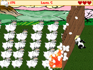 A horde of Mongolian sheep approaches the Great Fence!